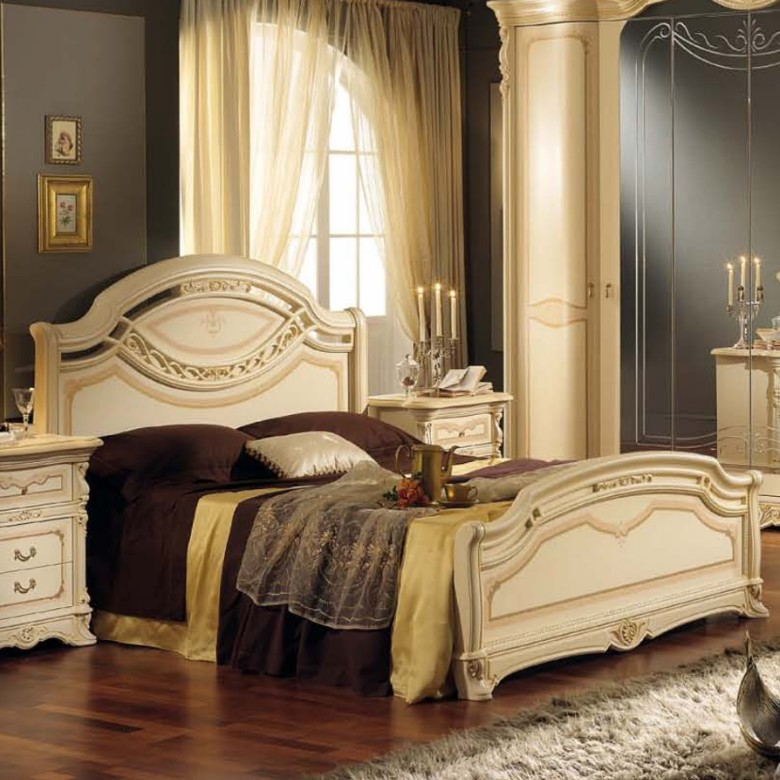 Holz bett Regina Beige King MP