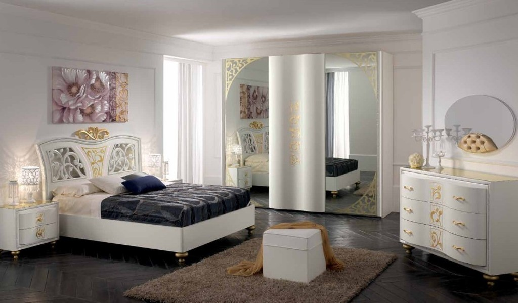 Schlafzimmer Komplet Set Gioia Gold