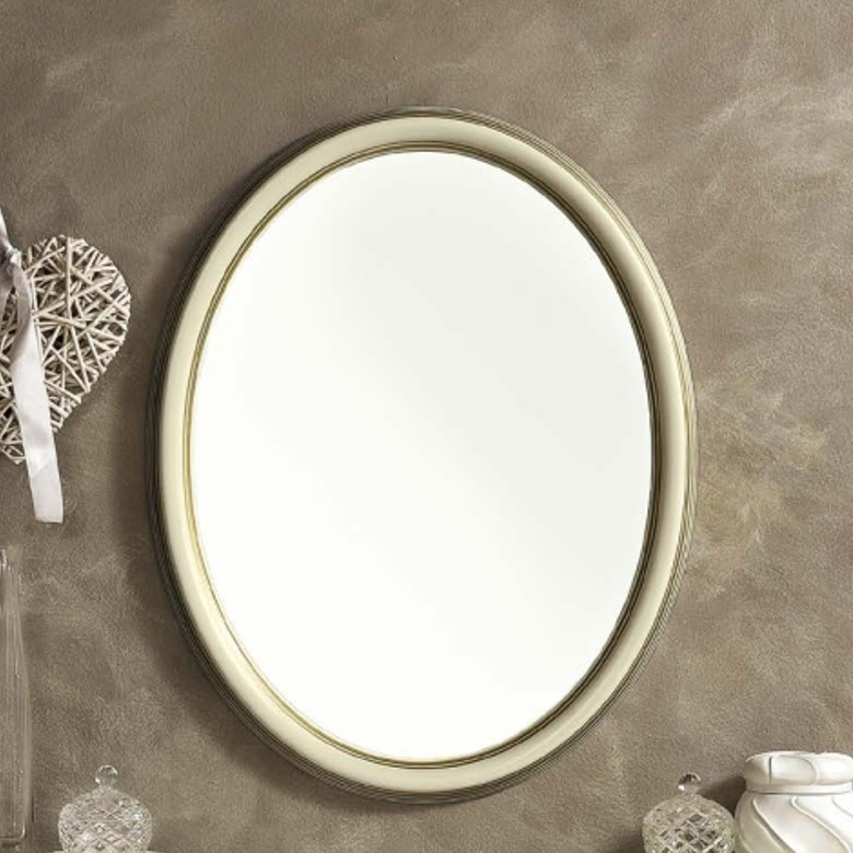 Spiegel Oval Treviso ivory