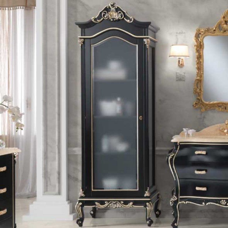 1 Vitrine Luxury Schwarz Gold